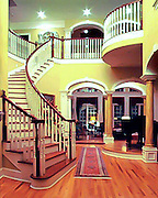 Architectural interior - stairs in luxury home