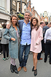 Left to right, AMBER COLEMAN and her parents MEL COLEMAN and ANNABEL CROFT at a private view of work & workings of Nic Fiddian Green - The Studio held at Sladmore Contemporary, 32 Bruton Place, London on 9th June 2015.
