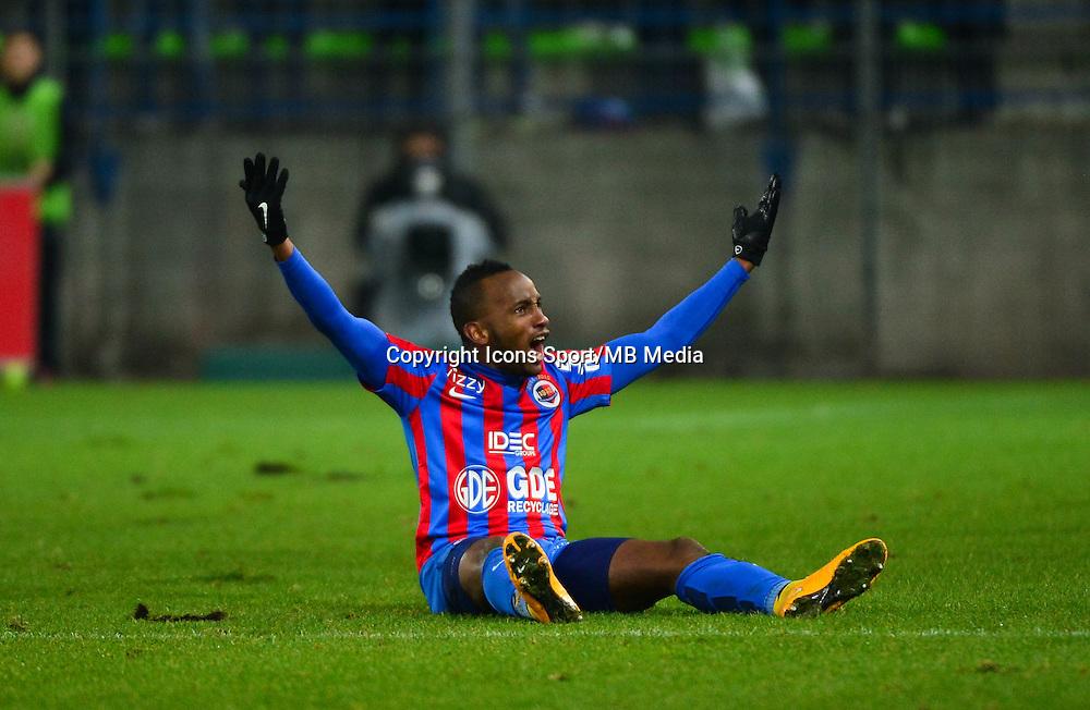 Joie Lenny NANGIS - 06.12.2014 - Caen / Nice - 17eme journee de Ligue 1 -<br />Photo : Dave Winter / Icon Sport
