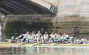 Hammersmith, GREATER LONDON. United Kingdom Cambridge University  Boat  Club, Trial Eights for the 2017 Boat Race The Championship Course, Putney to Mortlake on the River Thames.<br /> <br /> Monday  12/12/2016<br /> <br /> [Mandatory Credit; Peter SPURRIER/Intersport Images]                                               CUBC Trial VIII's between TWO G's on Surrey in all blue tops and ONE T on Middlesex in blue tops with white sleeves.<br /> <br /> TWO G's, Bow, Felix Newman, 2, Patrick Elwood, 3, Simon Buechele, 4, Peter Rees, 5, Charlie Fisher, 6, Tim Tracy, 7, Ben Ruble, Stroke, Freddie Davidson. Cox, Ian Middleton.<br /> <br /> ONE T, Bow, Louis Margot, 2, Sam Wilson, 3, Sam Ringer, 4, Jim Letten, 5, Robin Ponte, 6, Sash Maolwany, 7, Piers Kasas, Stroke, Henry Meek, Cox, Hugo Ramambason.