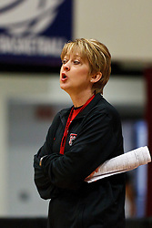 March 18, 2011; Stanford, CA, USA; Texas Tech Lady Raiders head coach Kristy Curry during practice the day before the first round of the 2011 NCAA women's basketball tournament at Maples Pavilion.