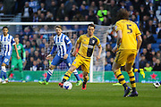 Fulham midfielder Scott Parker (8) during the Sky Bet Championship match between Brighton and Hove Albion and Fulham at the American Express Community Stadium, Brighton and Hove, England on 15 April 2016. Photo by Phil Duncan.