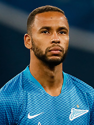 February 21, 2019 - Saint Petersburg, Russia - Hernani of FC Zenit Saint Petersburg looks on during the UEFA Europa League Round of 32 second leg match between FC Zenit Saint Petersburg and Fenerbahce SK on February 21, 2019 at Saint Petersburg Stadium in Saint Petersburg, Russia. (Credit Image: © Mike Kireev/NurPhoto via ZUMA Press)