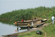 Uganda, Lake Edward, Fishing Boats