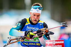 Antonin Guigonnat (FRA) during Single Mixed Relay at day 1 of IBU Biathlon World Cup 2018/19 Pokljuka, on December 2, 2018 in Rudno polje, Pokljuka, Pokljuka, Slovenia. Photo by Ziga Zupan / Sportida