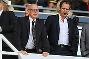 Derby County owner Mel Morris (left) during the EFL Cup match between Derby County and Grimsby Town FC at the iPro Stadium, Derby, England on 9 August 2016. Photo by Aaron  Lupton.