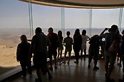 Mitzpe Ramon interior of the visitor's centre overlooking Makhtesh Ramon, Negev Desert, Israel,