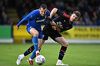 Football - 2019 / 2020 pre-season friendly - AFC Wimbledon vs. Crystal Palace<br /> <br /> AFC Wimbledon's Dylan Connolly holds off the challenge from Crystal Palace's Luke Dreher, at Kingsmeadow Stadium.<br /> <br /> COLORSPORT/ASHLEY WESTERN