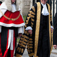 London Oct 1st The start of the legal year is marked by a procession of judges arriving at Westminster Abbey from the Royal Courts of Justice in  The Strand for a religious service, followed by the Lord Chancellor's 'breakfast' at Westminster Hall in the  Houses of Parliament.       ....***Standard Licence  Fee's Apply To All Image Use***.Marco Secchi /Xianpix. tel +44 (0) 771 7298571. e-mail ms@msecchi.com or sales@xianpix.com.www.marcosecchi.com