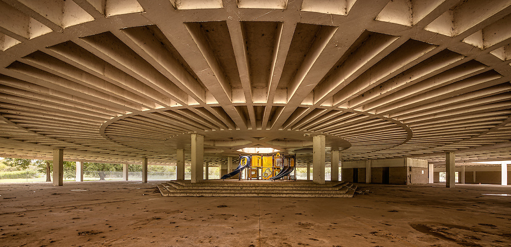 The underbelly of a closed down school in the St. Bernard Parish in New Orleans. The entire school was on stilts and completely flooded and abandoned.