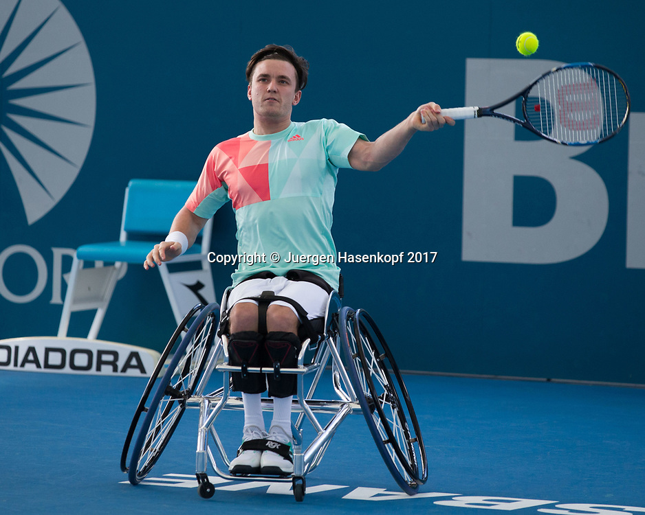 GORDON REID (GBR), Rollstuhl Tennis<br /> <br /> Tennis - Brisbane International  2017 - ITF -  Pat Rafter Arena - Brisbane - QLD - Australia  - 7 January 2017. <br /> &copy; Juergen Hasenkopf