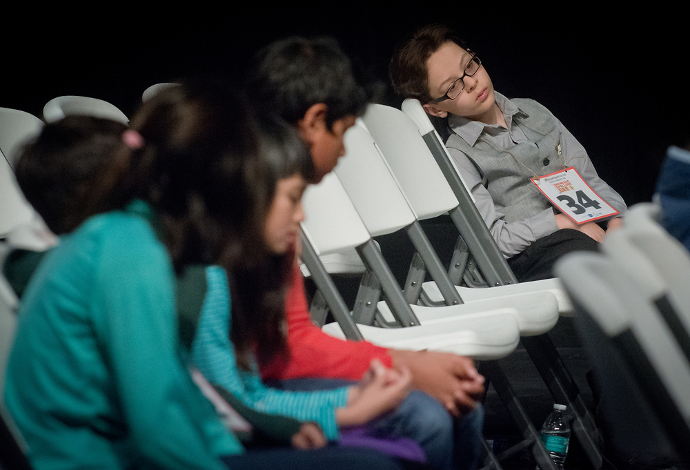 New Mexico Spelling Bee 2017, Sandia Prep, Albuquerque, N.M., Saturday, March 18, 2017.<br /> (Marla Brose/Albuquerque Journal)