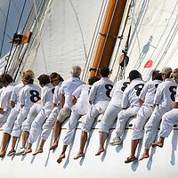 Moonbeam IV aux Régates Royales de Cannes.Ce bateau (sous un autre nom) a appartenu à SAS Rainier de Monaco.