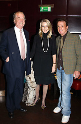 Left to right, LORD & LADY BELL and NICKY HASLAMat a fund raising dinner hosted by Marco Pierre White and Frankie Dettori's in aid of Conservative Party's General Election Campaign Fund held at Frankie's No.3 Yeoman's Row,æLondon SW3 on 17th January 2005.<br />