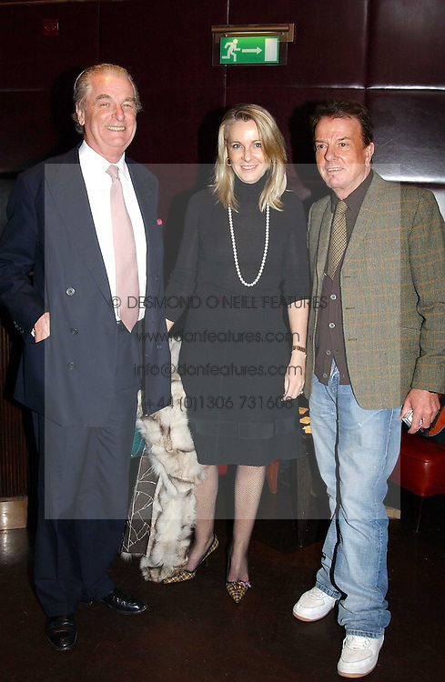 Left to right, LORD & LADY BELL and NICKY HASLAMat a fund raising dinner hosted by Marco Pierre White and Frankie Dettori's in aid of Conservative Party's General Election Campaign Fund held at Frankie's No.3 Yeoman's Row,æLondon SW3 on 17th January 2005.<br /><br />NON EXCLUSIVE - WORLD RIGHTS