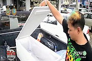 Baby's corpse STOLEN FOR BLACK MAGIC<br /> <br /> BANGKOK - The Samut Prakarn hospital has lost the body of a premature baby.When the mother wanted to pick up the little body in the morgue employees had to admit it was gone. An investigation is going on who did it, and where the body is.<br /> <br /> The mother, named only A, went to the hospital accompanied by her brother to retrieve the body of the child was born at home prematurely. The baby was six and a half months old at birth and taken directly to the hospital. It was placed in the incubator, where two days later died of cardiac arrest.<br /> <br /> But when they arrived yesterday at the hospital with a coffin (you) there was no child to stop. The statement from the hospital they did not accept, and went straight to the police station to report it. A is afraid that the body of her child to be used in black magic rituals.<br /> <br /> Yesterday family members had a discussion with the director, Dr. Khomrit Samphan, who said that the hospital itself investigating the case and cooperate with the police. He was sure that the body was still there Monday but not Tuesday. All the staff are questioned, but, said Dr. Samphan, it is possible that an outsider hacked to steal the body. This was the first time it happened to his hospital.<br /> ©Exclusivepix Media