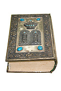 Old decorated silver plated Bible