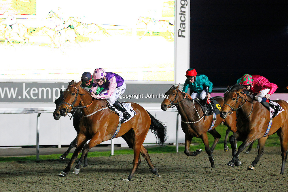 El Mirage and Jim Crowley winning the 8.30 race