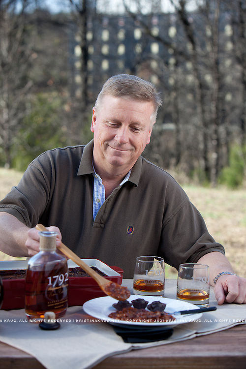 Ken Pierce of 1792 RIdgemont Reserve Distillery, showing his baked beans recipie