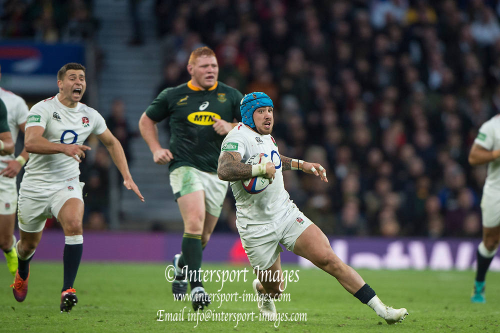 Twickenham, United Kingdom, Saturday, 3rd November 2018, RFU, Rugby, Stadium, England,   Jack NOWELL, looking for space, during the Quilter, Autumn International, England vs South Africa, © Peter Spurrier