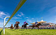 Jimmy Quinn on Soto Sizzler (right) wins the Move Over To Matchbook Handicap Stakes at the Qatar Goodwood Festival.<br /> Picture date: Wednesday August 1, 2018.<br /> Photograph by Christopher Ison ©<br /> 07544044177<br /> chris@christopherison.com<br /> www.christopherison.com