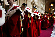 Rome jan 23th 2015, ceremony for the opening of Judicial Year, at the Supreme Court. In the picture judges with their traditional red gown