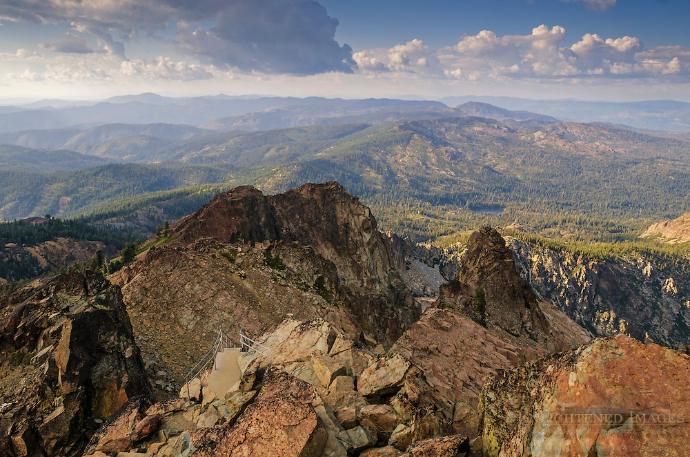 View from the summit of the Sierra Buttes, Tahoe National Forest, Sierra County, California