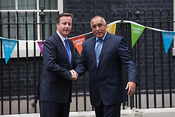 © licensed to London News Pictures. London, UK 07/08/2012. Prime Minister David Cameron (L) meets with Bulgarian Prime Minister Boyko Borissov in Downing Street on 07/08/12. Photo credit: Tolga Akmen/LNP
