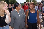 17074Freshman Convocation march 9/05/05...Katie Morrissey & Sharlene Clevela