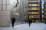 Commuters walking around Liverpool Street in London, United Kingdom. (photo by Andrew Aitchison / In pictures via Getty Images)