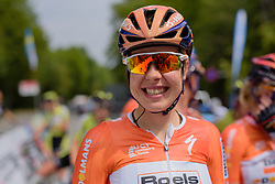 Romy Kasper (Boels Dolmans) looking forward to a day of racing in the sunshine on 'home' roads at Thüringen Rundfarht 2016 - Stage 2 a 103km road race starting and finishing in Erfurt, Germany on 16th July 2016.
