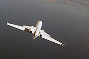Gulfstream IV in flight, top view