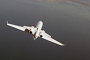 Gulfstream IV in flight, top view