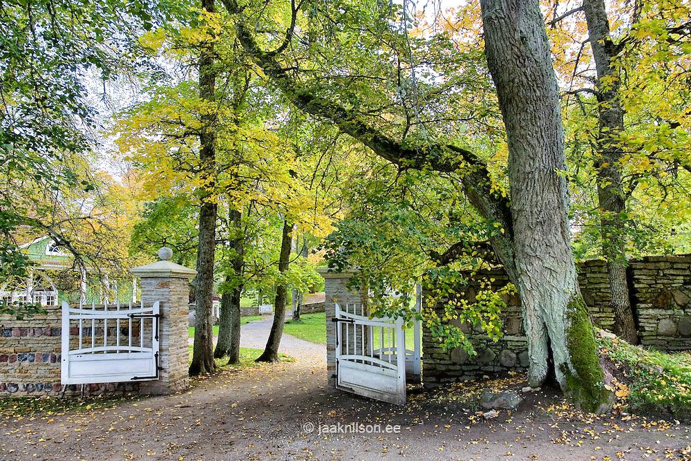 Open Gate in Palmse Manor Park, Lääne-Viru County, Estonia, Europe