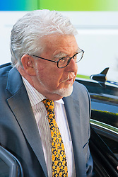 London, May 14th 2014. Celebrity entertainer and artist Rolf Harris arrives at London's Southwark Crown Court where his trial on indecent assault on four girls aged between 7 and 19 continues.