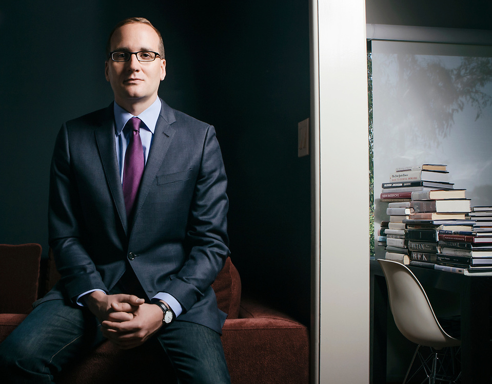 LOS ANGELES, CA - MAY 31: Chad Griffin, newly appointed president of the Human Rights Campaign, poses at his home on May 31, 2012, in Los Angeles, California.The Human Rights Campaign is the nation's largest and most influential gay rights group. (Photo by Bret Hartman/ For The Washington Post)