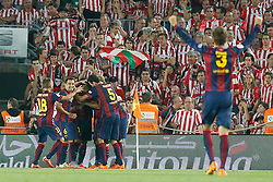 30.05.2015, Camp Nou, Barcelona, ESP, Copa del Rey, Athletic Club Bilbao vs FC Barcelona, Finale, im Bild FC Barcelona's players celebrate goal // during the final match of spanish king's cup between Athletic Club Bilbao and Barcelona FC at Camp Nou in Barcelona, Spain on 2015/05/30. EXPA Pictures &copy; 2015, PhotoCredit: EXPA/ Alterphotos/ Acero<br /> <br /> *****ATTENTION - OUT of ESP, SUI*****