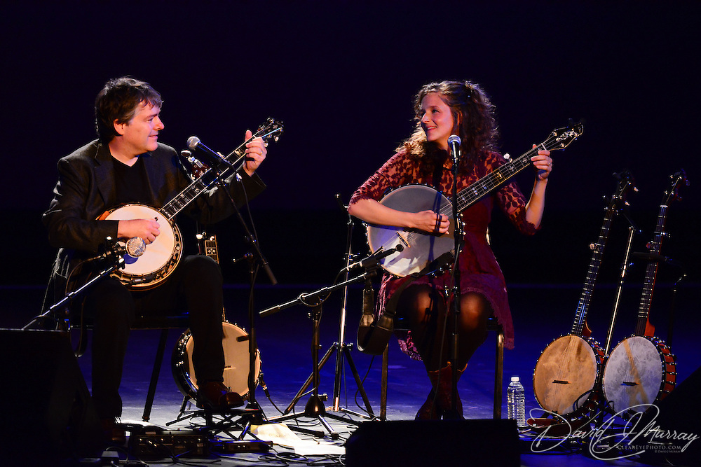 Béla Fleck and Abigail Washburn perform at The Music Hall in Portsmouth, NH. August 30, 2013