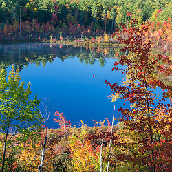 Round Pond in fall. Barrington, New Hampshire.
