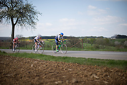 Katrin Garfoot (AUS) of Orica-AIS Cycling Team tries to bridge the gap during the second, 110.1km road race stage of Elsy Jacobs - a stage race in Luxembourg in Garnich on May 1, 2016.