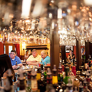 August 18, 2012 - New Rochelle, NY : Posto 22, located at 22 Division Street in New Rochelle, NY, serves gourmet Italian cuisine. Pictured here, a crowd at the bar on Saturday night. CREDIT: Karsten Moran for The New York Times.