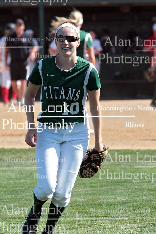 09 May 2014: Victoria Whitaker  during an NCAA Division III women's softball championship series game between the Lake Forest Foresters and the Illinois Wesleyan Titans in Bloomington IL