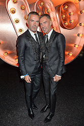 DEAN CATEN and DAN CATEN at the Warner Music Group & Ciroc Vodka Brit Awards After Party held at The Freemason's Hall, 60 Great Queen St, London on 24th February 2016.