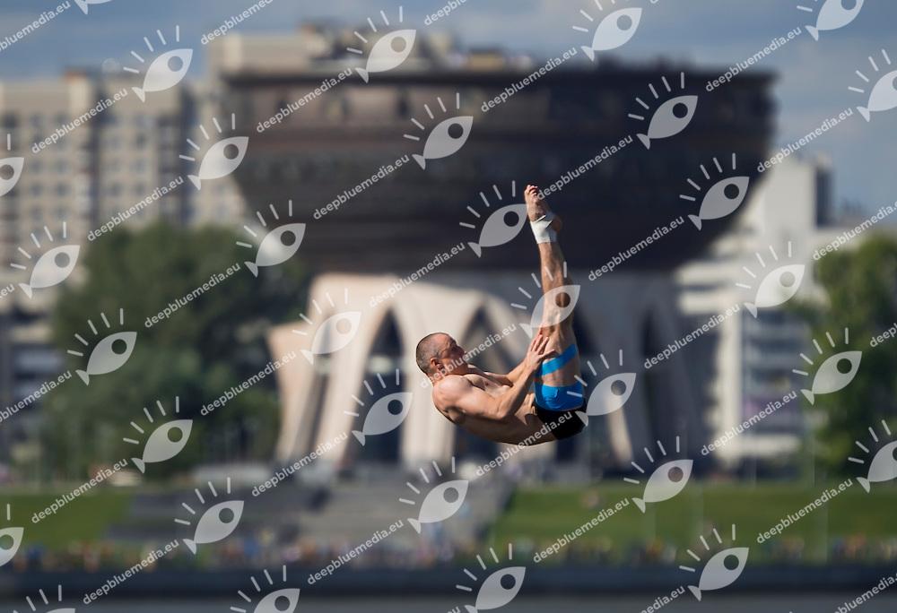 SILCHENKO Artem RUS<br /> High Diving - Men's 27m high dive preliminaries<br /> Day 11 03/08/2015<br /> XVI FINA World Championships Aquatics Swimming<br /> Kazan Tatarstan RUS July 24 - Aug. 9 2015 <br /> Photo Giorgio Perottino/Deepbluemedia/Insidefoto