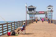 Tourists at Oceanside Municipal Pier
