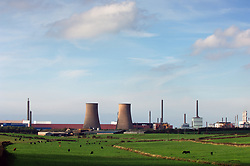 Sellafield nuclear reprocessing plant near village of Seascale; Cumbria UK