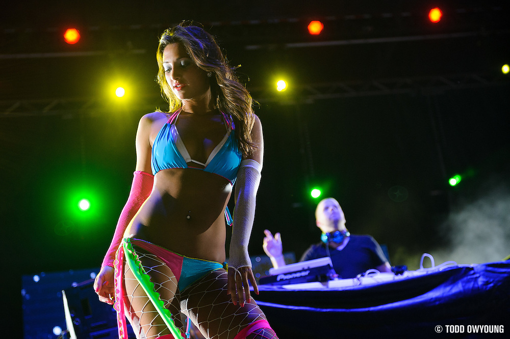 A dancer on the main stage at the first annual Pulse Festival in St. Louis on June 9, 2012.