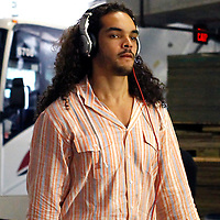 29 January 2012: Chicago Bulls Joakim Noah arrives at the arena prior to the Miami Heat game against the Chicago Bulls at the AmericanAirlines Arena, Miami, Florida, USA.