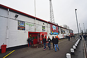 Fans arriving at The County Ground before the EFL Sky Bet League 2 match between Swindon Town and Yeovil Town at the County Ground, Swindon, England on 10 April 2018. Picture by Graham Hunt.