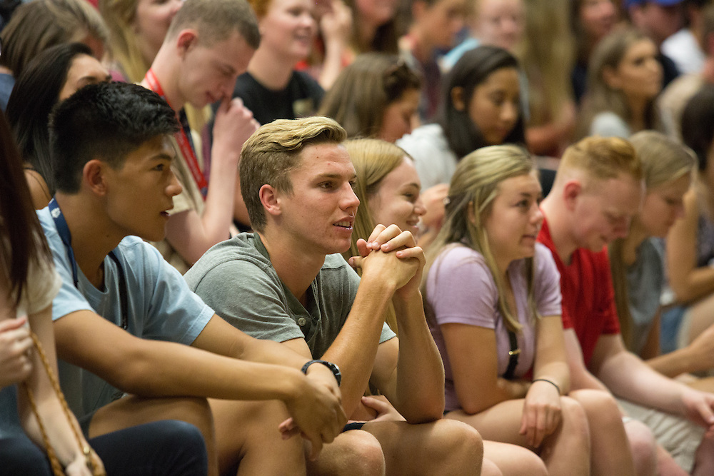 The class of 2020 was welcomed into the Charlotte Martin Center on Friday, Aug. 26 to kick off freshman orientation after check-in and move-in completion. Photo by Libby Kamrowski